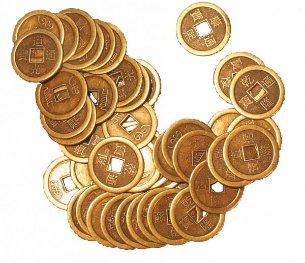 Chines. Münze einzeln 2,5cm