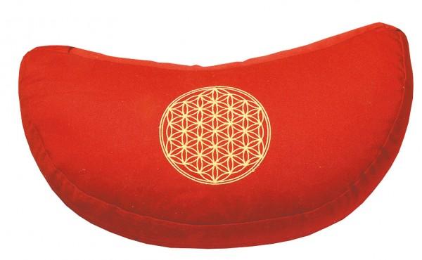 """Meditationskissen mit Inlet """"BDL"""" Baumwolle(80%), Polyester(20%) rot 40x20cm mit hochwertigem Bio-Di"""