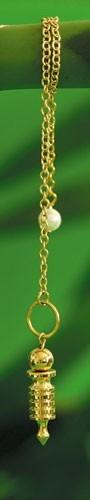 Isispendel mini vergoldet mit Kette