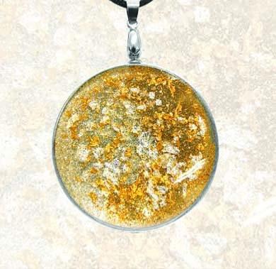 Sonnenamulett gold-silber