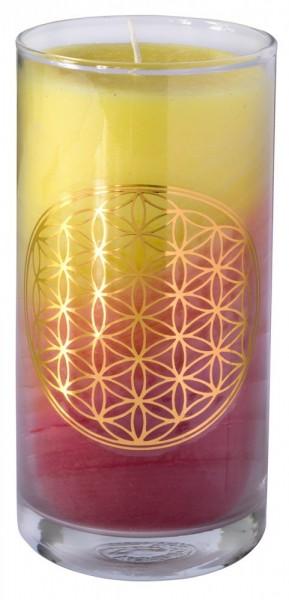 "Kerze ""Sunrise BDL"" im Glas Stearin 14cm"