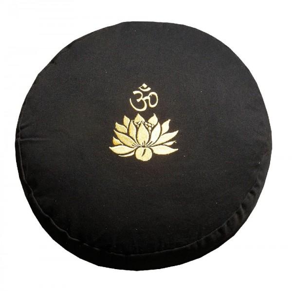 """Meditationskissen mit Inlet """"Lotus Om"""" Baumwolle(80%), Polyester(20%) schwarz"""
