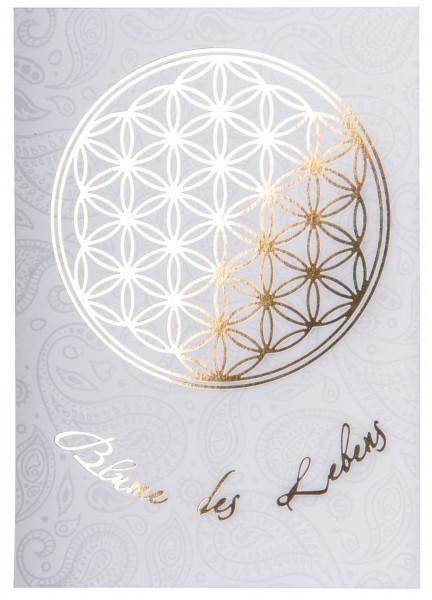 Blume des Lebens Postkarte